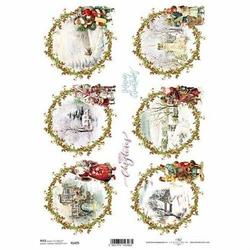 Papier ryżowy ITD A4 R1475 Świąteczne Obrazki