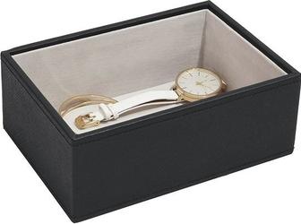 Szkatułka na biżuterię stackers open mini czarna velvet