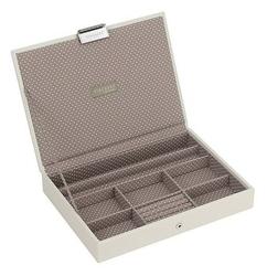Pudełko na biżuterię z pokrywką classic Stackers waniliowo-kawowe