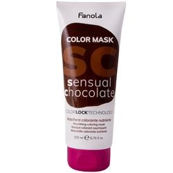 Fanola color mask - maska koloryzująca do włosów, różne kolory 200ml sensual chocolate