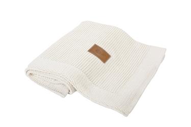 Kocyk tkany z bawełny organicznej - Kremowy