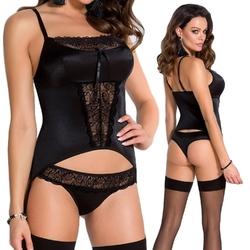 Lauren corset black : rozmiar - sm