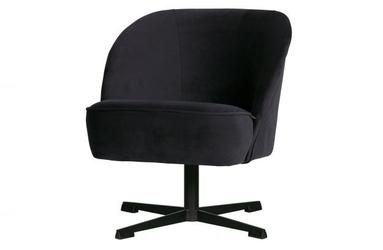 Be pure obrotowy fotel vogue aksamit atramentowy 800217-802