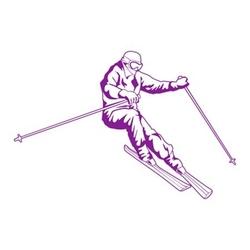 szablon malarski narciarz sp a6