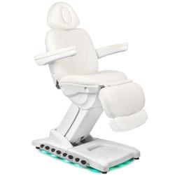 Fotel kosmetyczny elektr. azzurro 872 exclusive 4 siln. biały podgrzewany