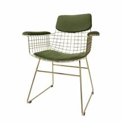 HK Living :: Zestaw zielonych podkładek do krzesła Wire - Zielony