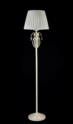 Beżowo-złota lampa podłogowa z kryształami brionia maytoni classic arm172-11-g