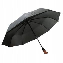 Czarny ekskluzywny parasol męski full automat tiross
