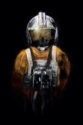 Star wars gwiezdne wojny rebel pilot - plakat premium wymiar do wyboru: 30x40 cm