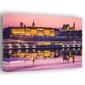 Warszawa zamek królewski bajkowy zamek - obraz na płótnie wymiar do wyboru: 40x30 cm