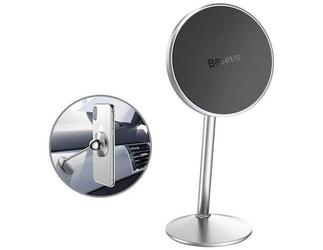 Baseus magnetyczny uchwyt samochodowy na deskę little sun 360 silver - srebrny