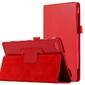 Etui stojak do lenovo tab 4 7 essential tb-7304 czerwone + szkło - czerwony