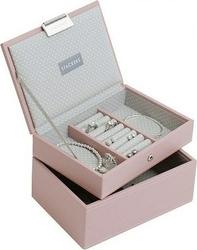 Pudełko na biżuterię podwójne mini Stackers różowe
