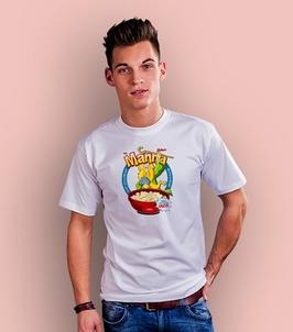 Manna t-shirt męski biały xl