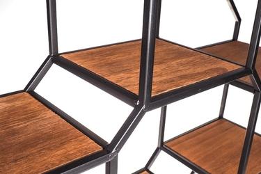 Regał metalowy loft ośmiokątny 73 cm