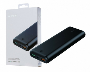 AUKEY PB-XD20 Black ultraszybki Power Bank | 20100 mAh | 3xUSB | 7.4A | Quick Charge 3.0 | Power Delivery | kabel USB-C