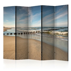 Parawan 5-częściowy - morska bryza room dividers