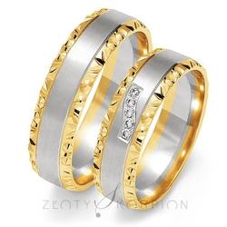 Obrączki ślubne złoty skorpion – wzór au-oe213