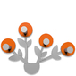 Wieszak ścienny Francine CalleaDesign pomarańczowy, aluminium 13-013-63