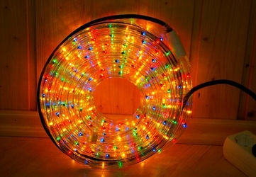 Wąż świetlny 360 mini żarówek, 10 m, multicolor