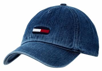 Czapka z daszkiem Tommy Hilfiger Jeans Denim Flag Cap - AU0AU00557-901