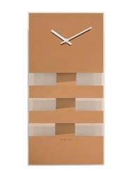 Zegar ścienny miedziany Bold Stripes Nextime