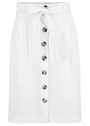 Spódnica przyjazna dla środowiska,  tencel™ lyocell z lnem bonprix biel wełny