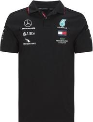 Koszulka polo mercedes amg petronas f1 2020 czarna - czarny