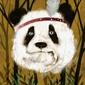 Panda indianin - plakat wymiar do wyboru: 60x80 cm