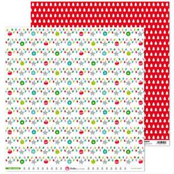 Papier Wesołych Świąt 30,5x30,5 cm - bombki - 06