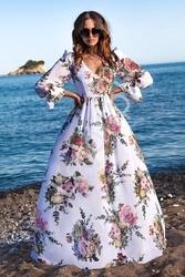 Sukienka szyfonowa w kwiaty olivia