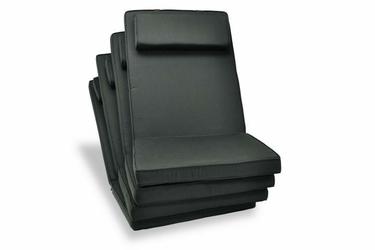 4x poduszki do krzesła ogrodowego - czarne poduchy
