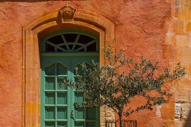 Zielone drzwi - plakat premium wymiar do wyboru: 50x40 cm