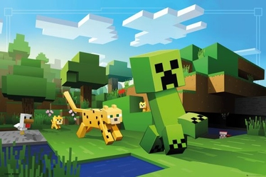 Minecraft Ocelot Chase - plakat