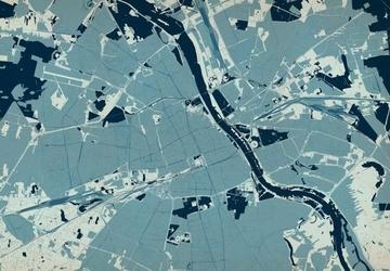 Warszawa - mapa w kolorach - fototapeta