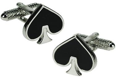 Spinki do mankietów Czarne serce KC-292 Onyx-Art London