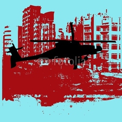 Tapeta ścienna grunge helikoptera