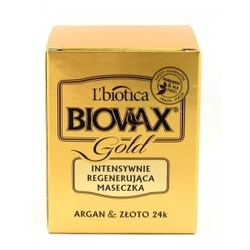 Biovax gold 125ml - intensywnie regenerująca maseczka do włosów z drobinkami złota 24k lbiotica