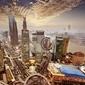 Fototapeta nowoczesny budynek w szanghaju w chinach.