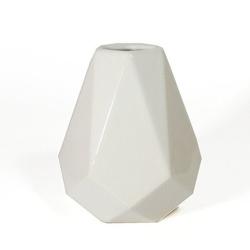 Matero ceramiczne w kształcie kryształu - białe