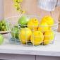 Koszyk metalowy  druciany na owoce miętowy altom design duży