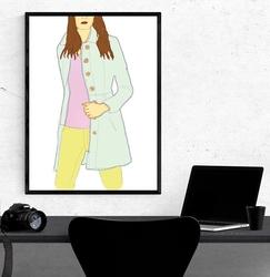 Pastelowo - plakat wymiar do wyboru: 40x50 cm