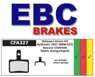 Klocki hamulcowe rowerowe ebc organiczne - shimano deore br-m515-br-m525, nexave, tektro auriga