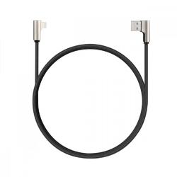 AUKEY Kabel CB-BAL6 nylonowy 90° Quick Charge USB-Lightning | 1.2m | Wtyki 90 stopni | idealne dla graczy
