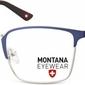 Oprawki prostokątne optyczne montana mm602c srebrno-niebieskie