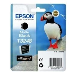 Tusz oryginalny epson t3248 czarny matowy - darmowa dostawa w 24h