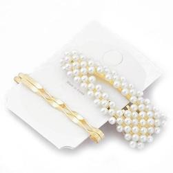 Wsuwki spinka do włosów perełki glamour ślub złote