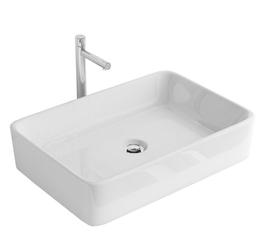 Umywalka Miso prostokątna nablatowa biała