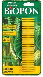 Biopon, pałeczki nawozowe do zielonych, 30 sztuk
