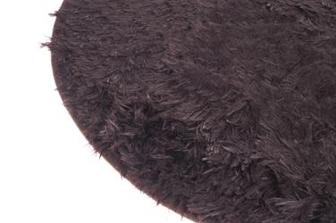 Dywanik łazienkowy okrągły 50 cm brązowy